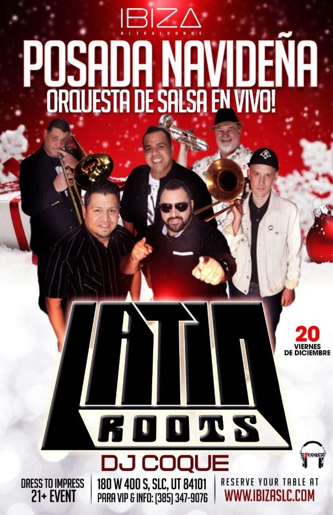 Flyer for Posada Navideña Con Latin Roots En Vivo En Salt Lake City,UT