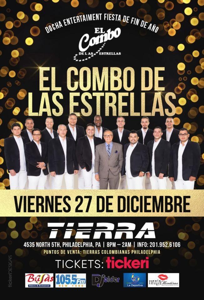 Flyer for El Combo de Las Estrellas en Philadelphia,PA