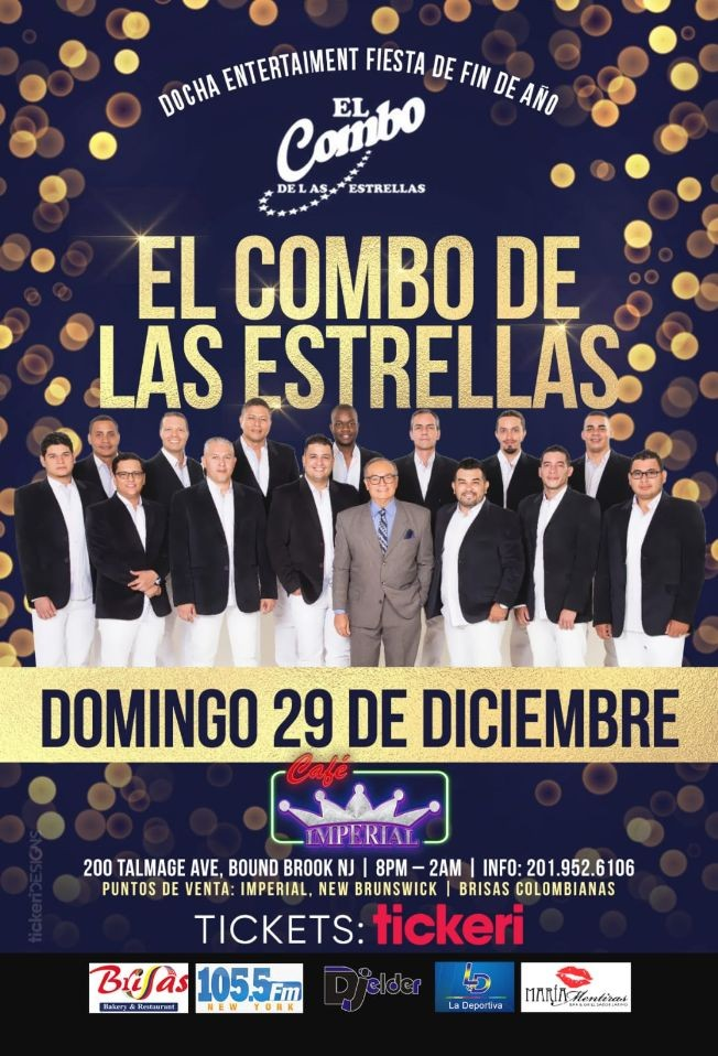 Flyer for El Combo de Las Estrellas en Bound Brook,NJ