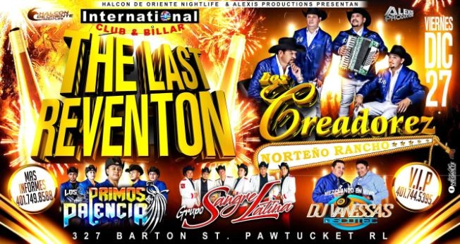 Flyer for THE LAST REVENTÓN 2019 CON LOS CREADORES DEL PASITO DURANGUESE
