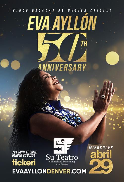 Flyer for Eva Ayllon 50 Aniversario En Denver, CO