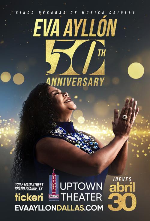 Flyer for Eva Ayllon 50 Aniversario En Dallas, TX CANCELLED