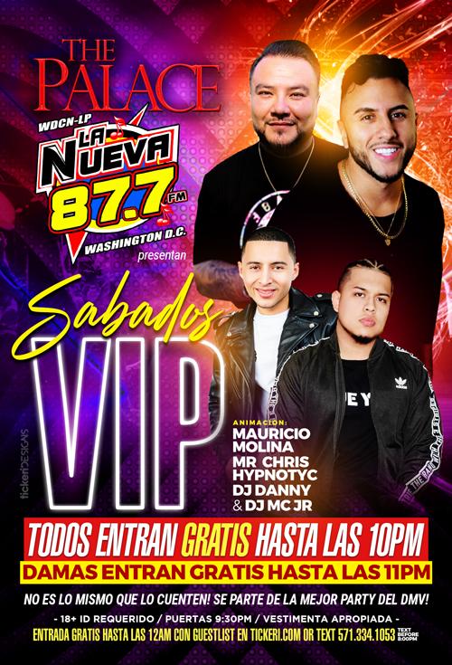 Flyer for Sabados VIP