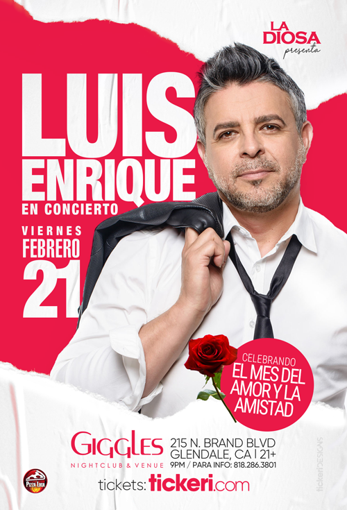 Flyer for LUIS ENRIQUE EN LOS ANGELES