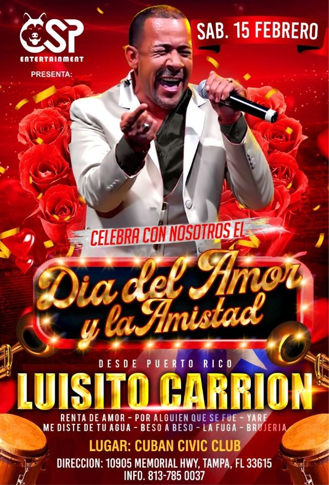 Flyer for Luisito Carrion