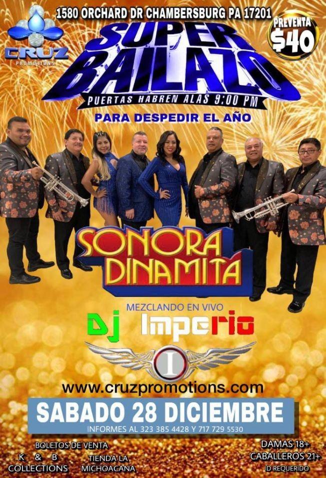 Flyer for Super Bailazo con Sonora Dinamita