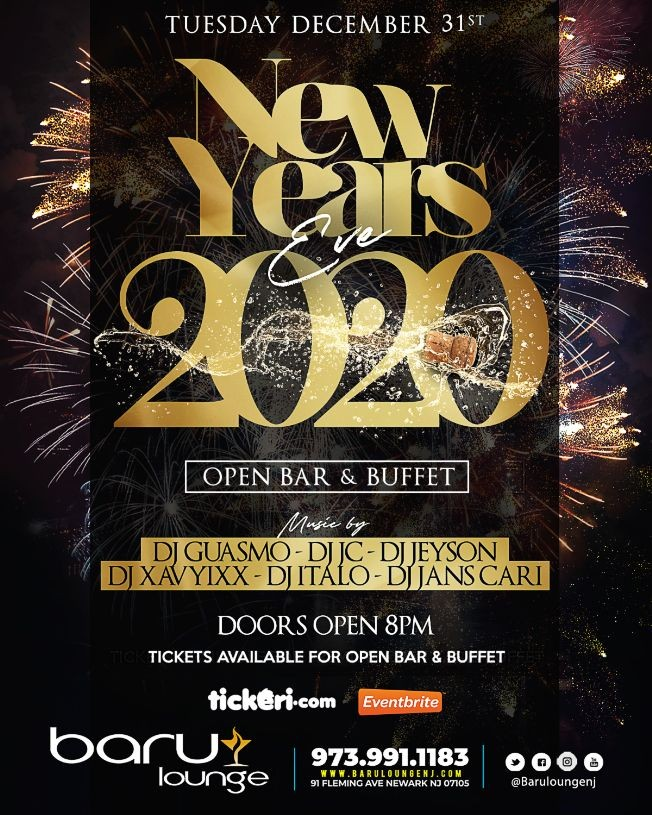 Flyer for NEW YEARS EVE
