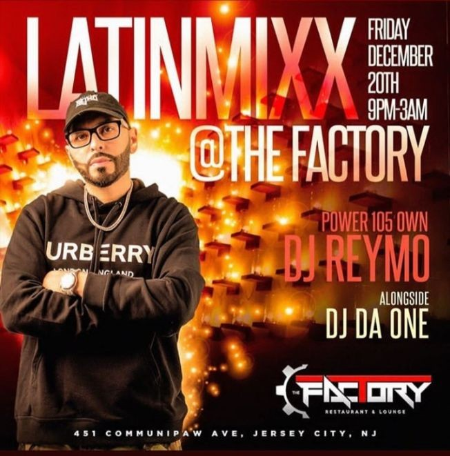 Flyer for Latin Mix Fridays At Factory