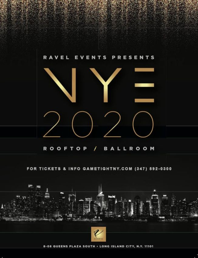 Flyer for NYE 2020 At Penthouse 808