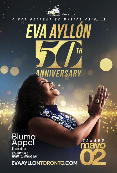 Flyer for Eva Ayllon 50 Aniversario En Toronto, ON