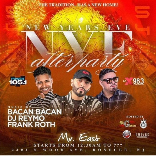Flyer for NYE 2020 After Party At Mister East