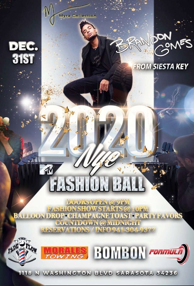 Flyer for New Years Eve Fashion Ball
