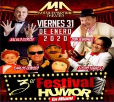 Flyer for 3er Festival Del Humor En Miami,FL