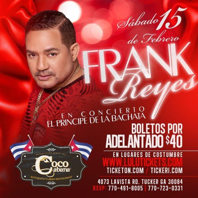 Flyer for FRANK REYES EN CONCIERTO