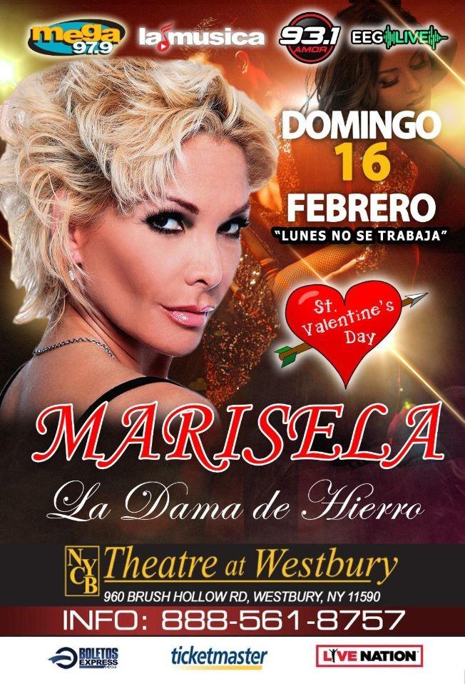 Flyer for Marisela 'La Dama de Hierro' en Concierto!