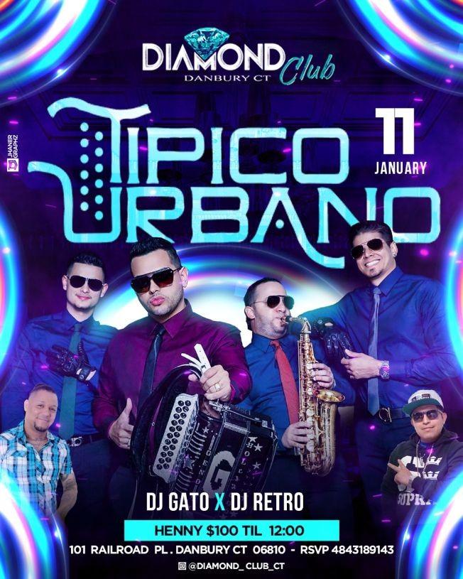 Flyer for Tipico Urbano en Concierto en Danbury, CT