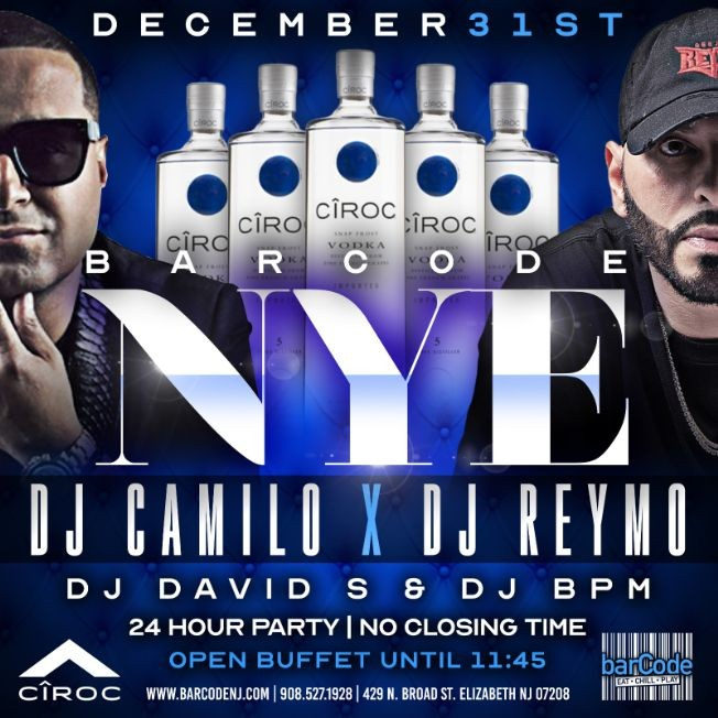 Flyer for NYE Biggest Party @barCode