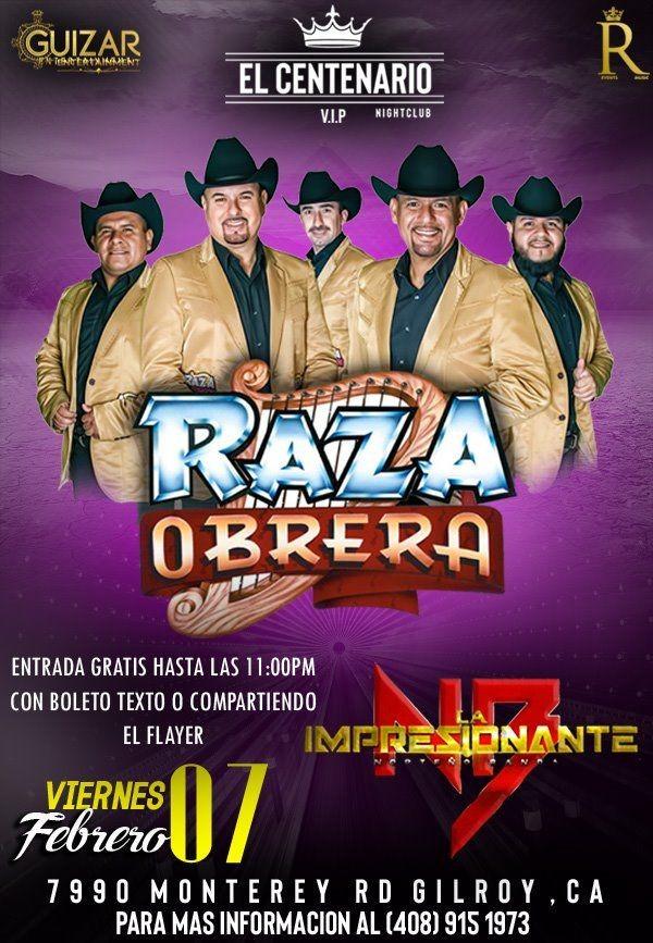 Flyer for Raza Obrera En Gilroy,CA
