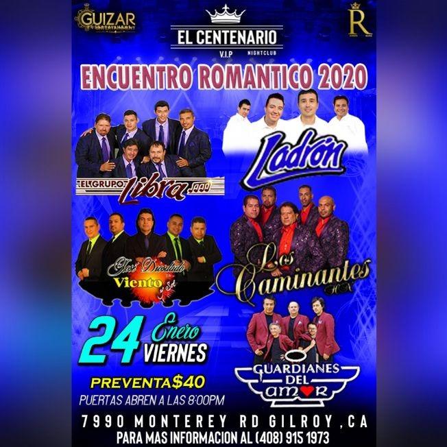 Flyer for Encuentro Romantico 2020 Con El Grupo Libra,Ladron y Mas En Gilroy,CA