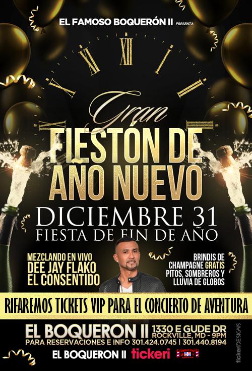 Flyer for Fieston de Año Nuevo en El Famoso Boqueron II