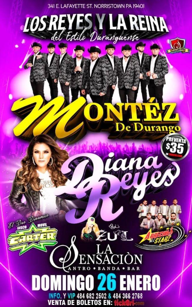 Flyer for MONTEZ DE DURANGO Y DIANA REYES