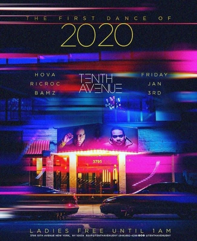 Flyer for The First Dance Of 2020 At Tenth Avenue