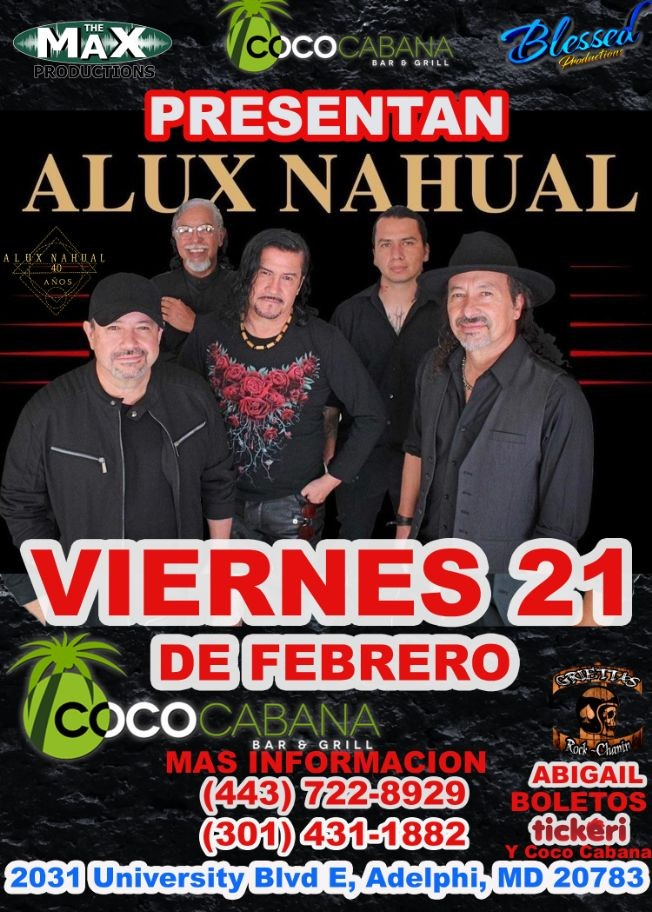 Flyer for ALUX NAHUAL Alux Nahual