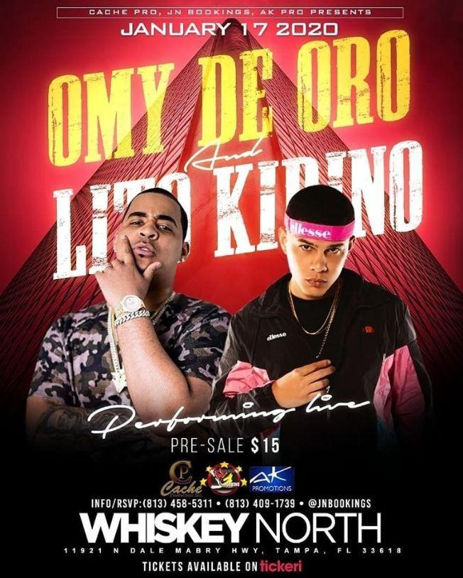 Flyer for Omy De Oro & Lito Kirino Live In Concert