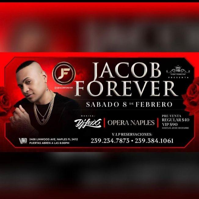 Flyer for Jacob Forever at Opera Naples