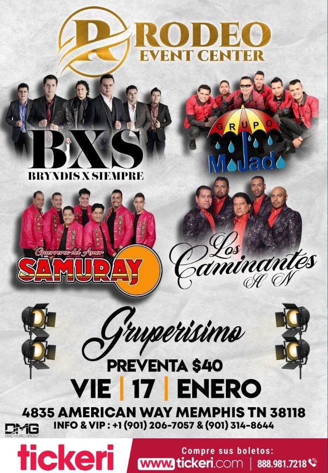 Flyer for Bryndis X Siempre,Grupo Mojado y Mas En Memphis,TN