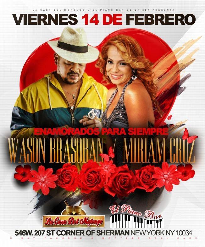Flyer for Wason Brazoban y Miriam Cruz en New York, NY