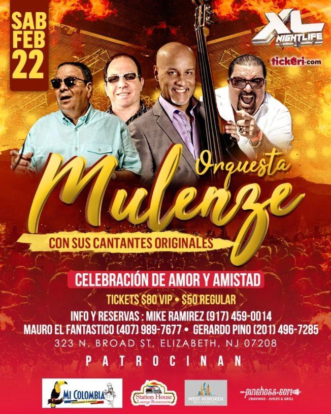 Flyer for Orquesta Mulenze En Concierto En Elizabeth,NJ