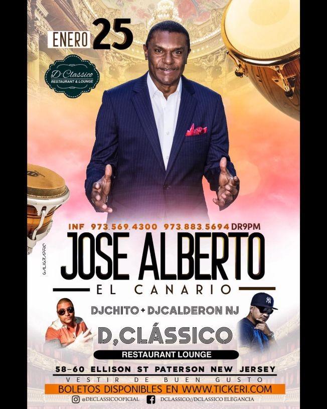 """Flyer for Jose Alberto """"El Canario"""" en Concierto!"""