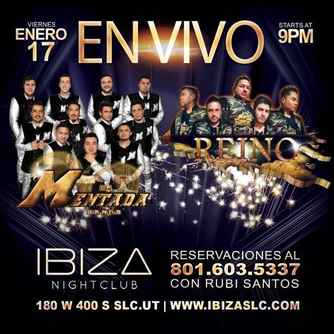 Flyer for La Mentada Banda & Los Del Reino en Vivo!