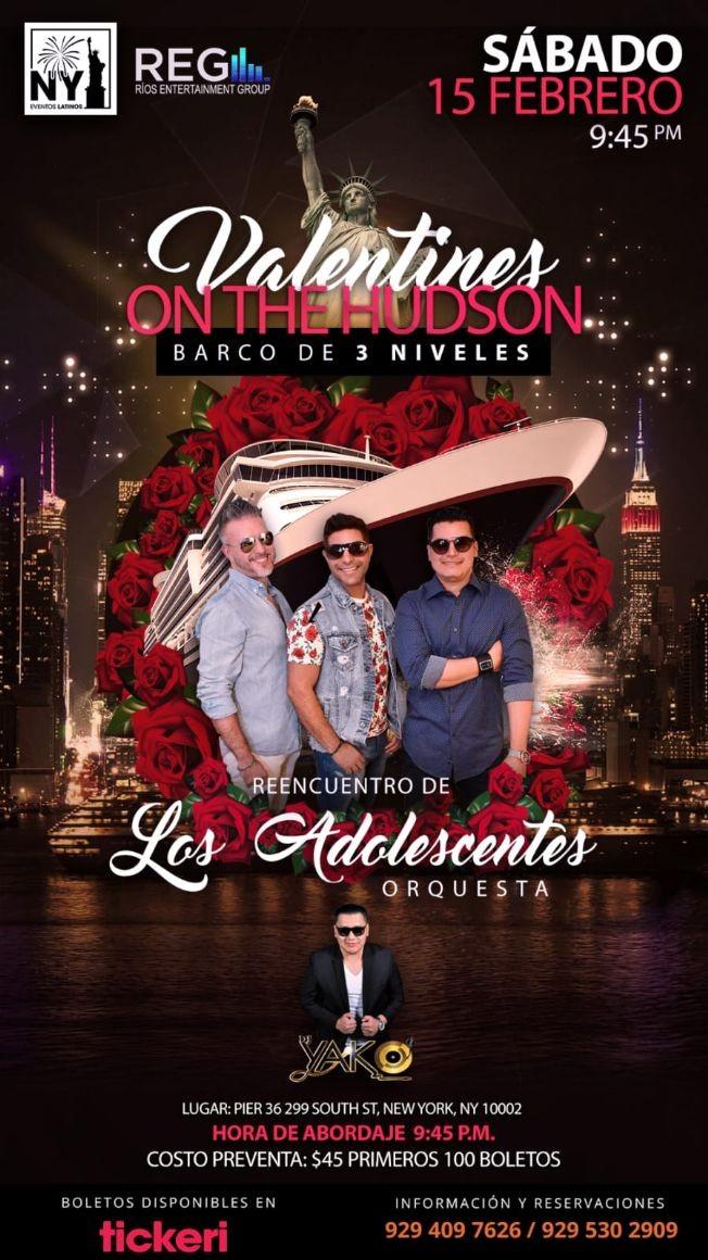 Flyer for Valentine's Day - Adolescentes Orquesta en Barco