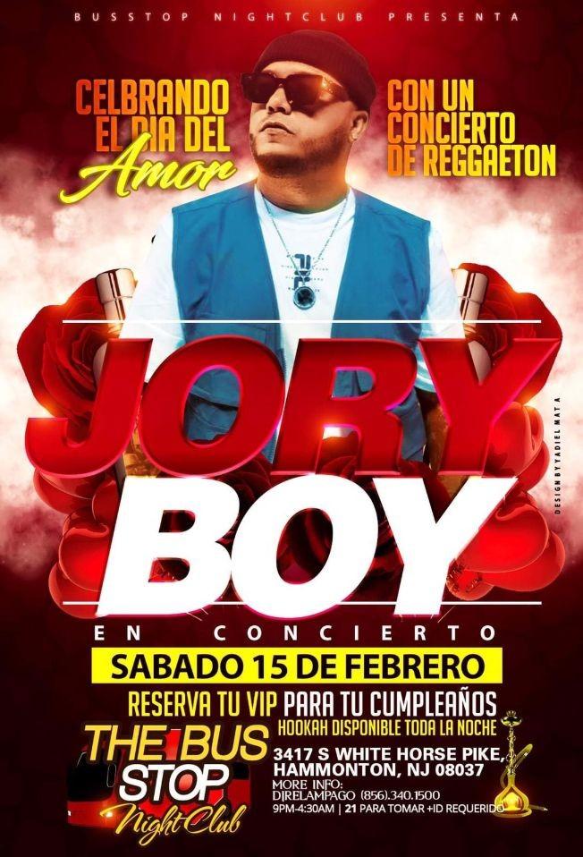 Flyer for Jory Boy En Concierto En Hammonton,NJ