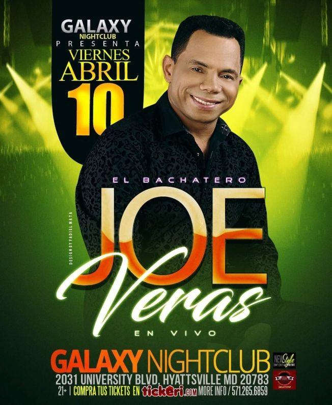 Flyer for Joe Veras en Hyattsville, MD POSTPONED