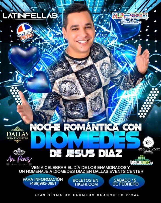 Flyer for Noche Romantica Con Diomedes De Jesus Diaz