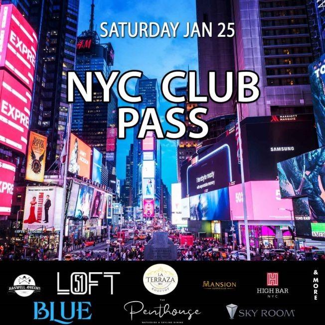 Flyer for NYC Club Hop Pub Crawl 2020 only $15