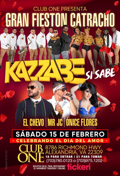 Flyer for Kazzabe, Chevo, Mr Jc, Onice - Alexandria, VA (Sei Sei Bei, Gira USA)