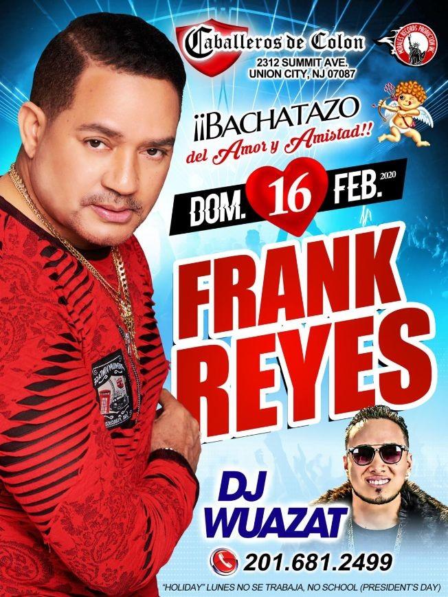 Flyer for Frank Reyes en Union City, NJ