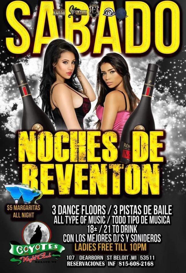 Flyer for Noches De Reventon En Beloit,WI