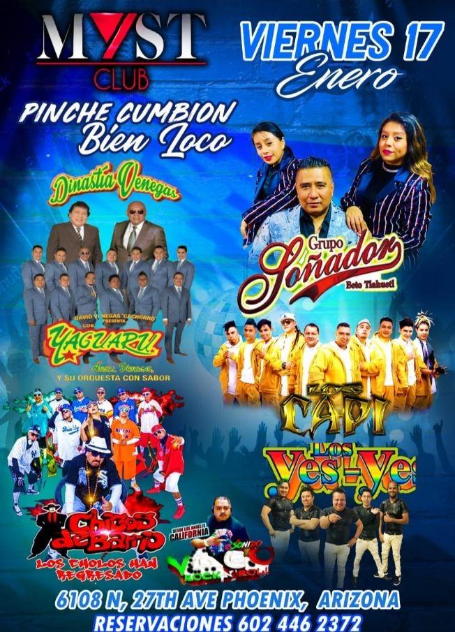 Flyer for Grupo Soñador,Yaguaru,Los Capi y Mas En Phoenix,AZ