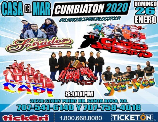 Flyer for Cumbiaton 2020 En Santa Rosa,CA