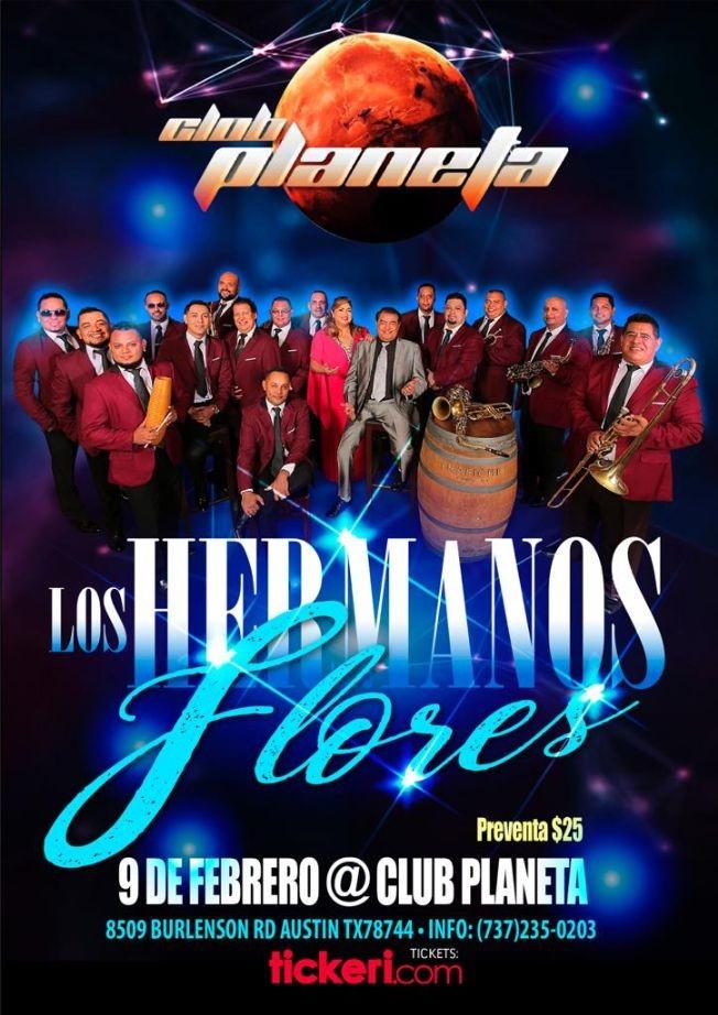 Flyer for Los Hermanos Flores En Concierto En Austin,TX