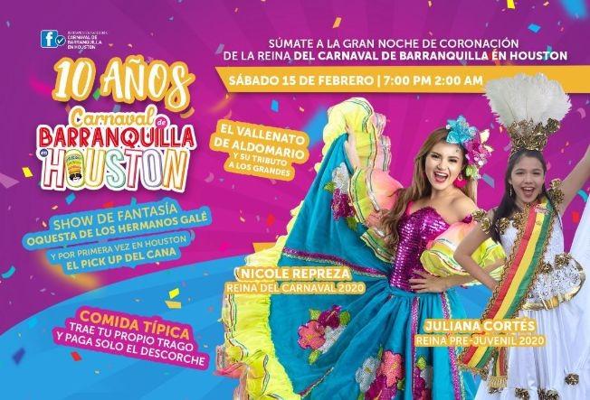 Flyer for Carnaval de Barranquilla en Houston: rumba y tradicion