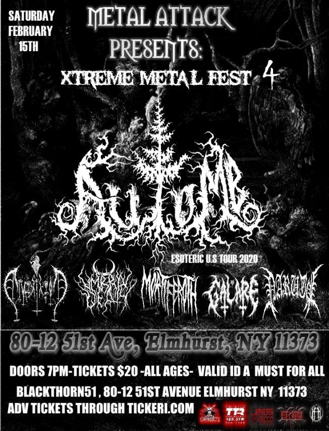 Flyer for EXTREME METAL FEST 4