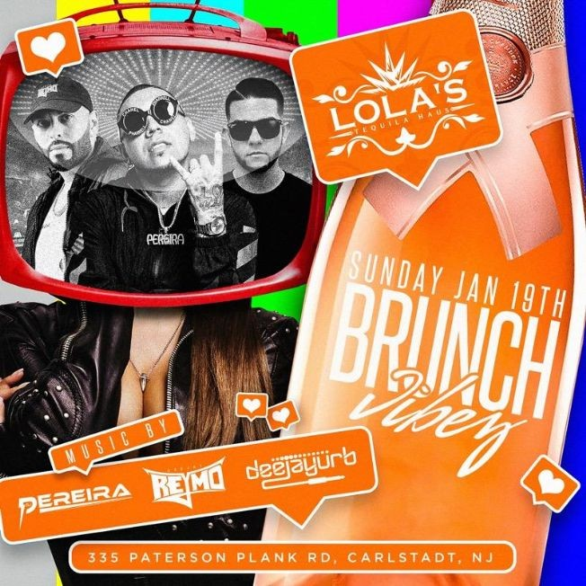 Flyer for MLK Weekend Brunch Vibez At Lola's Tequila Haus