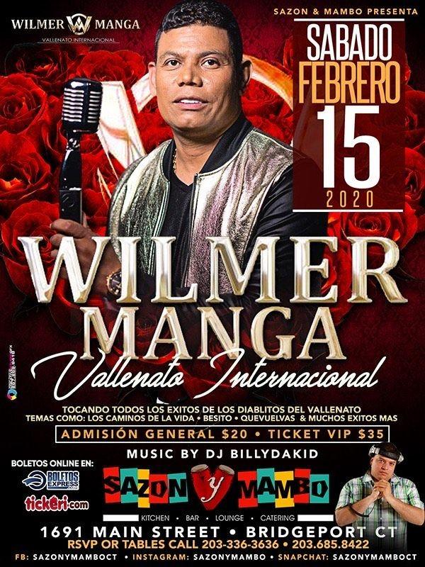 Flyer for Wilmer Manga en Concierto!