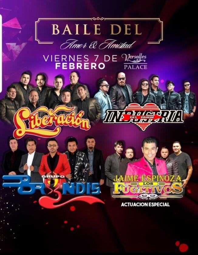 Flyer for Baile Del Amor y La Amistad Con Liberacion,Bryndis y Mas En Phoenix,AZ